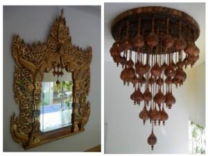 Decoração em madeira Medithai