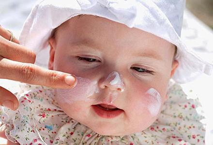 Filtro solar bebé