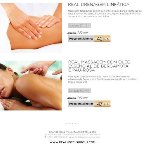 Real Drenagem Linfática e Real Massagem com Óleo Essencial de Bergamota e Pau-Rosa com 50% de desconto
