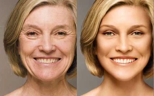 Rosto novo e envelhecido