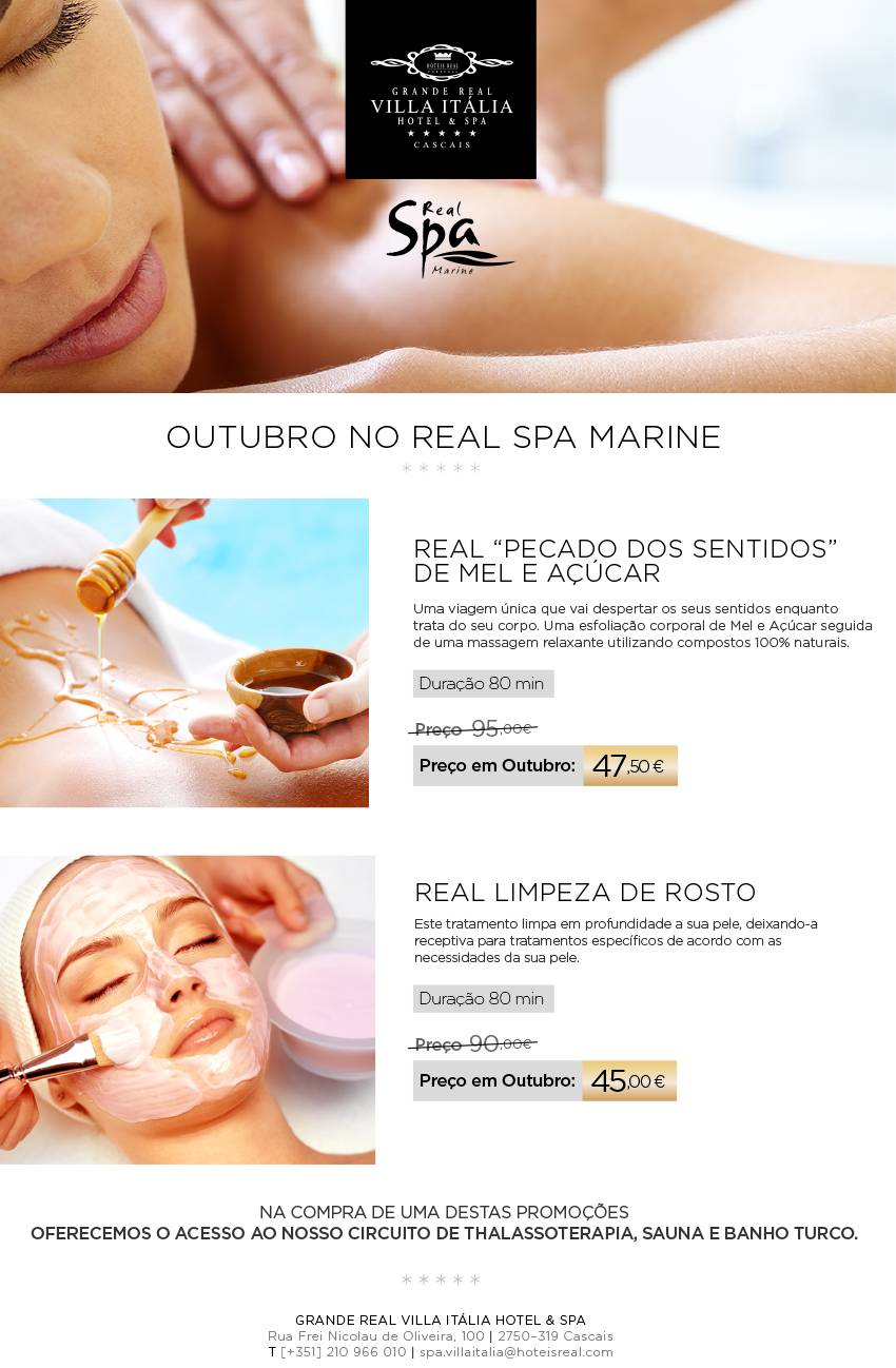 Outubro no Real Spa Marine